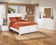 Bostwick Shoals White 5 Pc. Dresser, Mirror & Queen Panel Bed