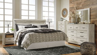Bellaby Whitewash 5 Pc. King Panel Headboard Bed Collection