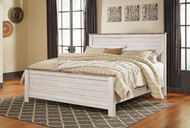 Willowton Whitewash King Panel Bed