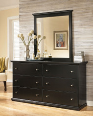 Maribel Black Dresser & Mirror