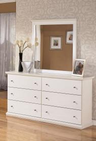 Bostwick Shoals White Dresser & Mirror