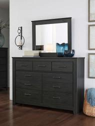 Brinxton Black Dresser & Mirror
