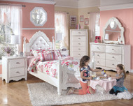 Exquisite White 4 Pc. Twin Bedroom Collection