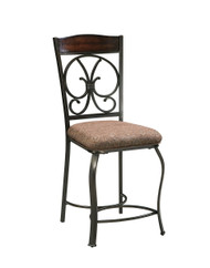 Glambrey Brown Upholstered Barstool (4/CN)