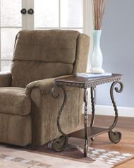 Rafferty Chair Side End Table: Dark Brown
