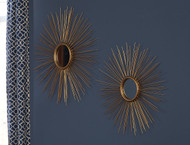 Doniel Antique Gold Finish Accent Mirror Set