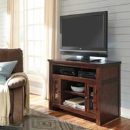 Harpan TV Stand: Reddish Brown