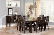 Haddigan Rectangular Dining Room Extension Table: Dark Brown