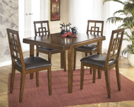 Cimeran Rectangular Dining Room Table Set (Set of 5): Medium Brown