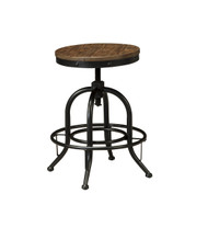 Pinnadel Swivel Stool (Set of 2): Light Brown
