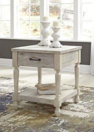 Shawnalore White Wash Rectangular End Table