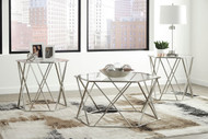 Madanere Chrome Finish Occasional Table Set