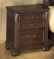 Leahlyn Two Drawer Night Stand: Warm Brown