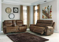 Austere Brown Reclining Sofa &  Loveseat Set