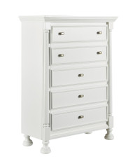 Kaslyn Five Drawer Chest: White