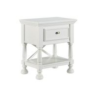 Kaslyn One Drawer Night Stand: White