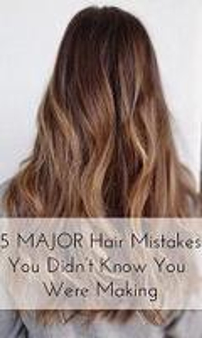 5 Major Hair Mistakes You Didn't Know You Were Making