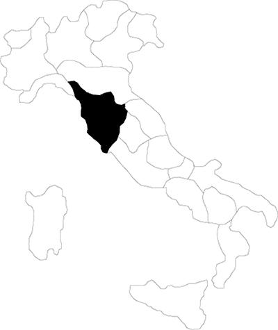 Toscana region map