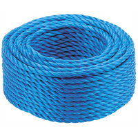Blue Polypropylene Rope Mini Coil