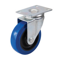 Fixman Blue Elastic Rubber Swivel Castor