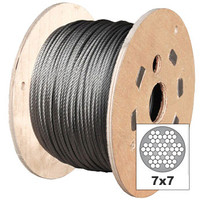 Clear PVC Coated Galvanised 7x7 Wire Rope