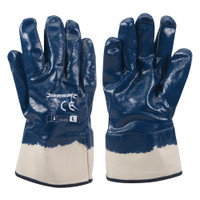Silverline Jersey Lined Nitrile Gloves