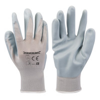Silverline Foam Nylon Nitrile Gloves