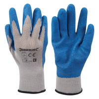 Silverline Latex Builders Gloves