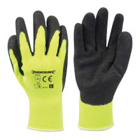 Silverline Hi-Vis Yellow Builders Gloves
