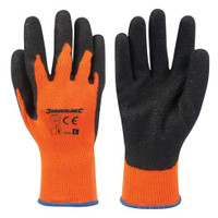 Silverline Hi-Vis Orange Builders Gloves