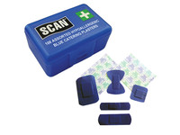 Scan Assorted Hypoallergenic Blue Plasters - Pack of 100