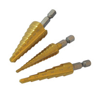 Silverline Titanium-Coated Imperial HSS Step Drill Set - 3 piece