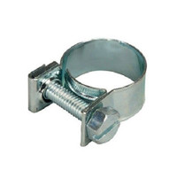 Nut & Bolt Fuel Hose Clips - Bright Zinc Plated