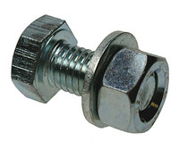 Assembled Hex Head HT Set Screw, Nut & Washer - CE Marked - Bright Zinc Plated