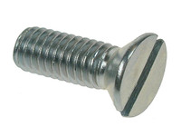 Slotted Csk Machine Screws - Bright Zinc Plated