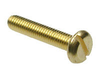 Slotted Pan Head Machine Screws - Brass