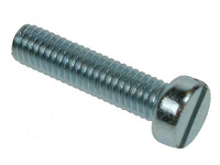 Slotted Cheese Head Machine Screws - Bright Zinc Plated