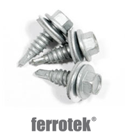 Ferrotek Hex Head Stitching Screws (with Washer)