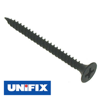 Unifix Bugle Head Drywall Screws - Black Phosphate (Pack of 200)