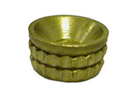 Turned Pattern Screw Cup Socket - Brass
