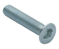 Csk Sentinel Security Machine Screws - Bright Zinc Plated