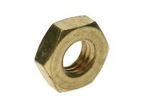 Hex Lock Nuts - Brass