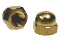 Hex Dome Nuts - Brass