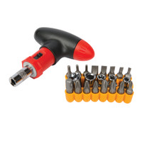 Silverline T-Handle Ratchet Screwdriver Set - 22 piece