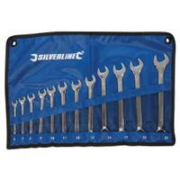 Silverline 6-22mm Combination Spanner Set - 12 piece