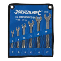 Silverline 6-17mm Open-Ended Spanner Set - 6 piece