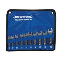 Silverline 10-19mm Stubby Spanner Set - 10 piece