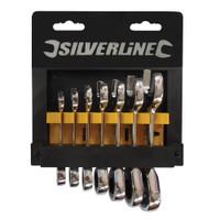 Silverline 8-19mm Stubby Ratchet Spanner Set - 7 piece