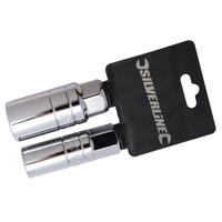 Silverline Spark Plug Deep Socket Set - 2 piece