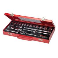 "Silverline 1/2"" Drive Metric Socket Wrench Set - 21 piece"